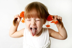 Tongue thrust little girl